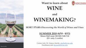 Hort 375. 001 Summer Course Flyer