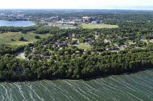 Aerial view of Eagle Heights. Photo by Jeff Miller; UW-Madison, University Communications